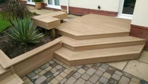 Millboard Decking Steps Garden