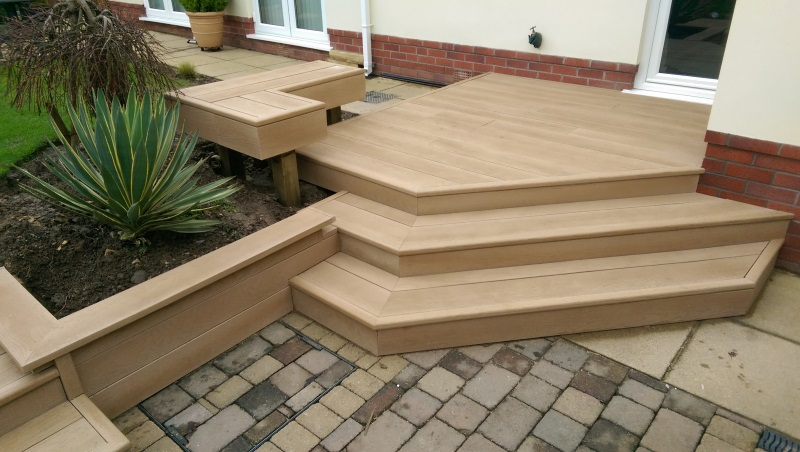 Millboard Decking Steps Garden